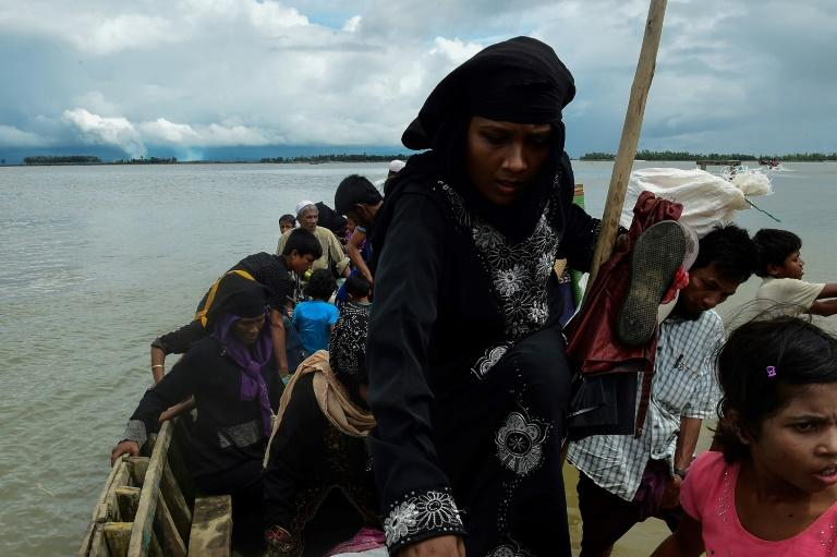 Many Rohingya have trekked across hills and through jungles for days to reach the border with Myanmar and have told of the demands made by gangs and individuals to get a place on a boat crossing the Naf river that divides the two countries