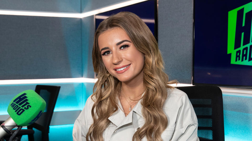 Dani Dyer gave birth to her son, Santiago, in January 2021. (Photo by John Phillips/Getty Images)