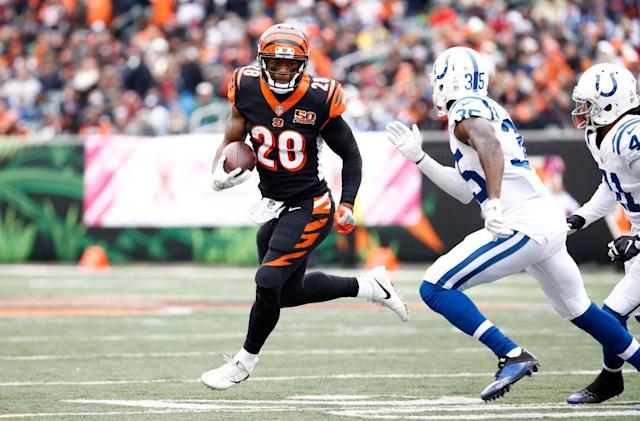Joe Mixon rolled for the Bengals, but didn't impress Le'Veon Bell. (Getty)