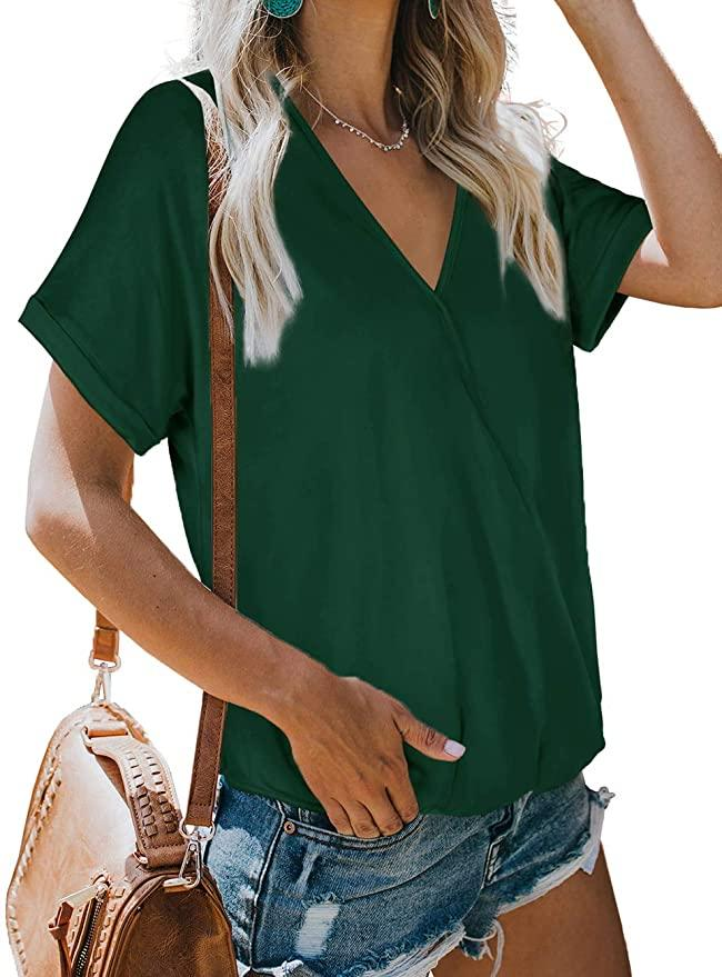 NSQTBA Womens V Neck Wrap Top (Photo: Amazon)