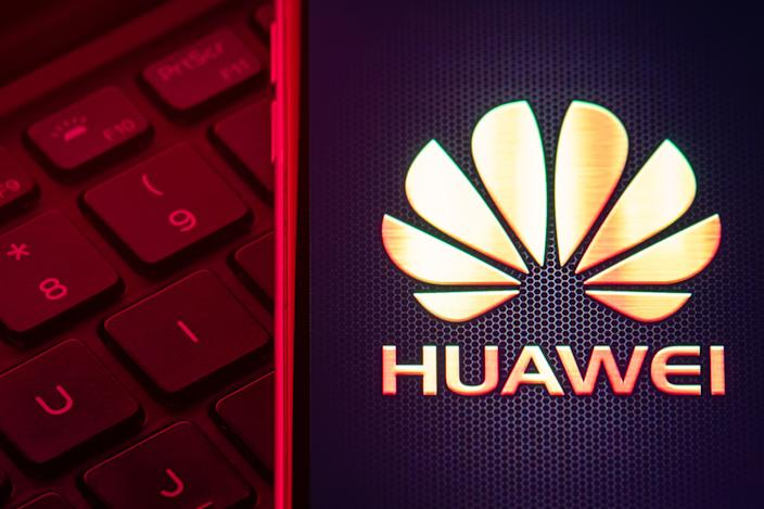 """File photo dated 28/01/20 of the Huawei logo. Philip Jansen, chief executive of BT has warned that it would be """"impossible"""" to strip Huawei products out of the UK�s telecommunications network within the next decade."""