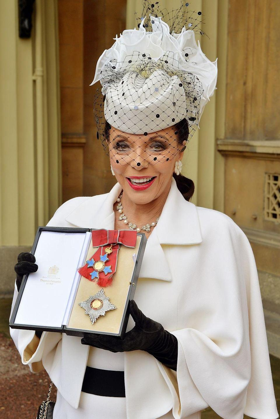 <p>Prince Charles appointed Collins a Commander of the Order of the British Empire (CBE) in 2015.</p>