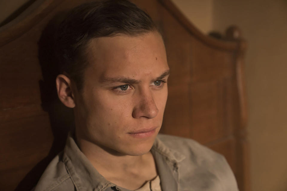 "This image released by Paramount Pictures shows Finn Cole in a scene from ""Dreamland."" (Ursula Coyote/Paramount Pictures via AP)"