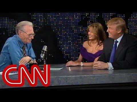 """<p>""""I was there about 13 minutes,"""" he <a href=""""https://www.youtube.com/watch?v=q4XfyYFa9yo"""" rel=""""nofollow noopener"""" target=""""_blank"""" data-ylk=""""slk:told Larry King in 2005"""" class=""""link rapid-noclick-resp"""">told Larry King in 2005</a> of the July 2002 trip to meet Viktor and Amalija. According to the <a class=""""link rapid-noclick-resp"""" href=""""http://www.newyorker.com/magazine/2016/05/09/who-is-melania-trump"""" rel=""""nofollow noopener"""" target=""""_blank"""" data-ylk=""""slk:New Yorker""""><em>New Yorker</em></a>, the couple landed on Trump's Boeing 727 in Ljubljana at 8 p.m. and drove to dinner with the Knavses at the Grand Hotel Toplice on Lake Bled, where they ate onion escalope with pan-fried potatoes, and forest blueberries, and Melania interpreted. On the way out, Trump reportedly asked Viktor, """"Is this place for sale?"""" The mogul was """"back at the airport before midnight.""""</p><p><a href=""""https://www.youtube.com/watch?v=q4XfyYFa9yo"""" rel=""""nofollow noopener"""" target=""""_blank"""" data-ylk=""""slk:See the original post on Youtube"""" class=""""link rapid-noclick-resp"""">See the original post on Youtube</a></p>"""