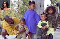 """<p>The reality star <a href=""""https://people.com/parents/fathers-day-2021-kim-kardashian-tribute-kanye-west/"""" rel=""""nofollow noopener"""" target=""""_blank"""" data-ylk=""""slk:shared a tribute to all of the dads"""" class=""""link rapid-noclick-resp"""">shared a tribute to all of the dads</a> in her family, including the rapper, from whom she filed for divorce earlier this year. </p> <p>""""Happy Father's Day to all the amazing dads in our lives! Love you unconditionally!!!"""" Kim captioned the carousel post, which also included photos of her late father Robert Kardashian, her brother <a href=""""https://people.com/tag/rob-kardashian/"""" rel=""""nofollow noopener"""" target=""""_blank"""" data-ylk=""""slk:Rob"""" class=""""link rapid-noclick-resp"""">Rob</a>, <a href=""""https://people.com/tag/caitlyn-jenner/"""" rel=""""nofollow noopener"""" target=""""_blank"""" data-ylk=""""slk:Caitlyn Jenner"""" class=""""link rapid-noclick-resp"""">Caitlyn Jenner</a>, <a href=""""https://people.com/tag/scott-disick/"""" rel=""""nofollow noopener"""" target=""""_blank"""" data-ylk=""""slk:Scott Disick"""" class=""""link rapid-noclick-resp"""">Scott Disick</a>, <a href=""""https://people.com/tag/tristan-thompson/"""" rel=""""nofollow noopener"""" target=""""_blank"""" data-ylk=""""slk:Tristan Thompson"""" class=""""link rapid-noclick-resp"""">Tristan Thompson</a> and <a href=""""https://people.com/tag/tristan-thompson/https://people.com/tag/travis-scott/"""" rel=""""nofollow noopener"""" target=""""_blank"""" data-ylk=""""slk:Travis Scott"""" class=""""link rapid-noclick-resp"""">Travis Scott</a>.</p> <p>The makeup mogul shares four kids with West: daughters <a href=""""https://people.com/tag/north-west/"""" rel=""""nofollow noopener"""" target=""""_blank"""" data-ylk=""""slk:North"""" class=""""link rapid-noclick-resp"""">North</a>, 8, and <a href=""""https://people.com/tag/chicago-west/"""" rel=""""nofollow noopener"""" target=""""_blank"""" data-ylk=""""slk:Chicago"""" class=""""link rapid-noclick-resp"""">Chicago</a>, 3, plus sons <a href=""""https://people.com/tag/saint-west/"""" rel=""""nofollow noopener"""" target=""""_blank"""" data-ylk=""""slk:Saint"""" class=""""link rapid-noclick-resp"""">Saint</a>, 5, and <a href=""""https://people"""