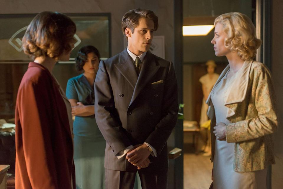 """<p>Set in Madrid in the 1920s, this series follows the lives of four women who get jobs at a telephone company and must learn how to balance work and life in the modernizing world.</p> <p><a href=""""https://www.netflix.com/title/80100929"""" class=""""link rapid-noclick-resp"""" rel=""""nofollow noopener"""" target=""""_blank"""" data-ylk=""""slk:Watch Cable Girls on Netflix now"""">Watch <strong>Cable Girls</strong> on Netflix now</a>. </p>"""