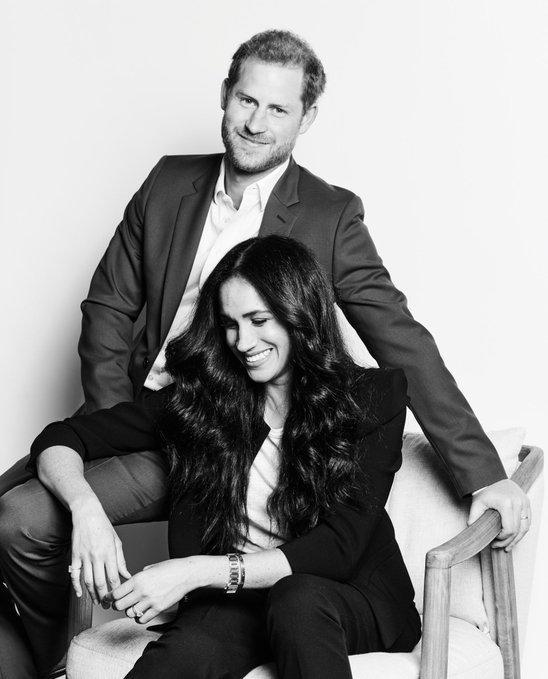 The portrait of Prince Harry and Meghan Markle was taken by photographer Matt Sayles to promote the couple's upcoming TIME100 Talks. (Photo: Time/ Matt Sayles)