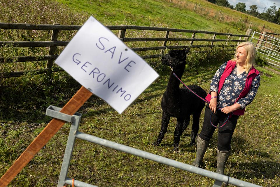 Helen Macdonald has been fighting to save Geronimo (SWNS)