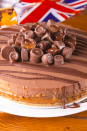 "<p>Who doesn't love a Rolo? In fact, we love the chocolate so much we turned it into a cheesecake - complete with the oozy caramel layer of course!</p><p>Get the <a href=""https://www.delish.com/uk/cooking/recipes/a29754366/rolo-cheesecake/"" rel=""nofollow noopener"" target=""_blank"" data-ylk=""slk:Rolo Cheesecake"" class=""link rapid-noclick-resp"">Rolo Cheesecake</a> recipe.</p>"