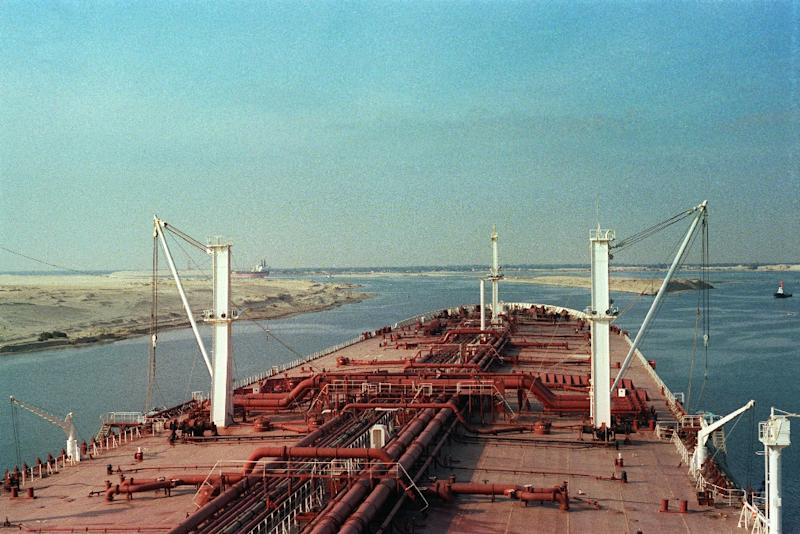 The Suez Canal, pictured in 1982, is a main revenue earner for Egypt and a 20th century symbol of its independence (AFP Photo/CYRIL CADET)