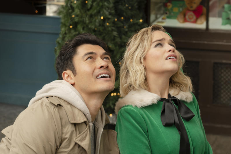 (From left) Tom (Henry Golding) and Kate (Emilia Clarke) in Last Christmas, directed by Paul Feig.