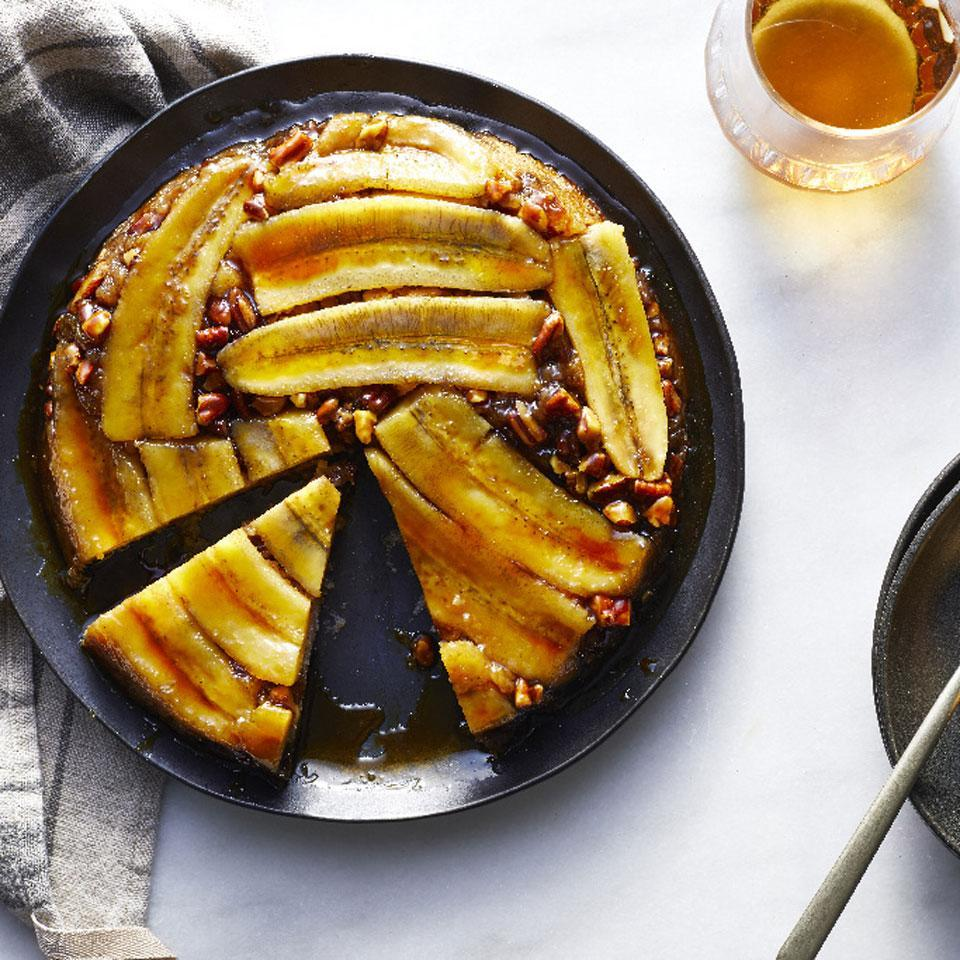 <p>The tableside flambéing of bananas Foster sure is impressive ... if someone else is making it for you. This cake has all the flavors of the New Orleans classic in easier-to-prepare cake form that's just as stunning as the original for a healthier dessert you'll be proud to serve.</p>