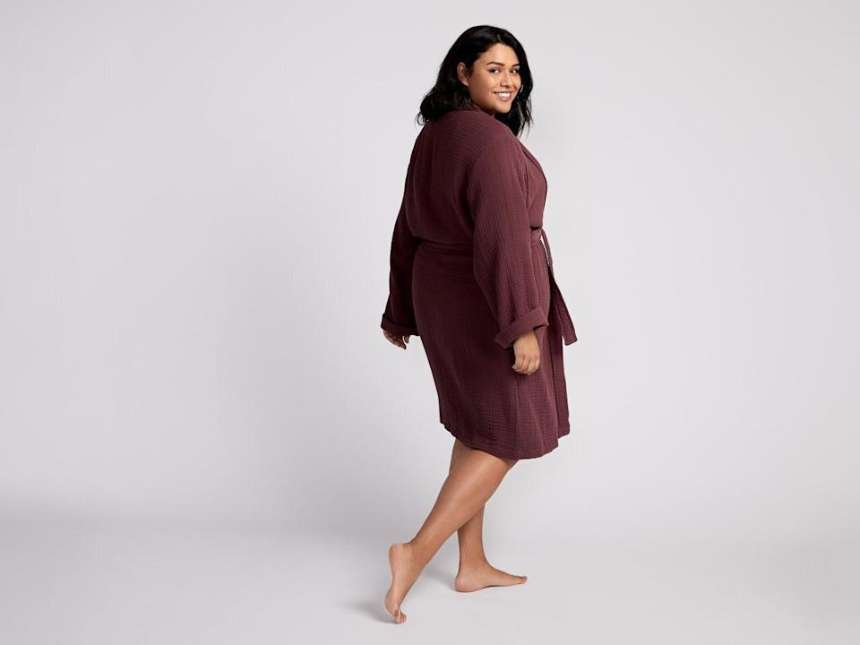 """Made ofTurkishcotton, this robe comes in sizes small to extra-small.<a href=""""https://fave.co/35z6xus"""" target=""""_blank"""" rel=""""noopener noreferrer"""">Originally $99, get it now for 20% off at Parachute</a>."""