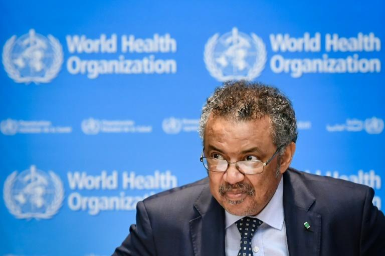 WHO's Director-General Tedros Adhanom Ghebreyesus said the outbreak remains 'complex and dangerous' (AFP Photo/Fabrice COFFRINI)