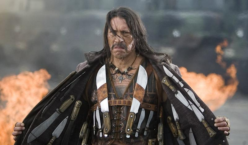 Danny Trejo made his debut as Machete in 'Grindhouse's fake trailer (credit: Dimension Films/TWC)
