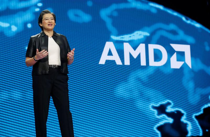 Lisa Su, president and CEO of AMD, gives a keynote address during the 2019 CES in Las Vegas