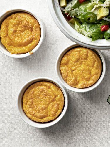 """<p>Combine the sweet flavor of carrots with zesty, aromatic nutmeg in this soufflé dish. </p><p><strong><a href=""""https://www.countryliving.com/food-drinks/recipes/a4243/light-fluffy-carrot-souffles-recipe-clv1112/"""" rel=""""nofollow noopener"""" target=""""_blank"""" data-ylk=""""slk:Get the recipe"""" class=""""link rapid-noclick-resp"""">Get the recipe</a>. </strong> </p>"""