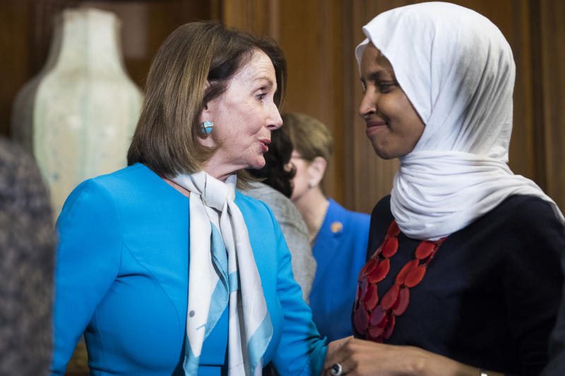 Speaker Nancy Pelosi and Rep. Ilhan Omar traveled to Ghana this week in observance of the first enslaved Africans brought to Virginia 400 years ago. (Photo: Getty Images)
