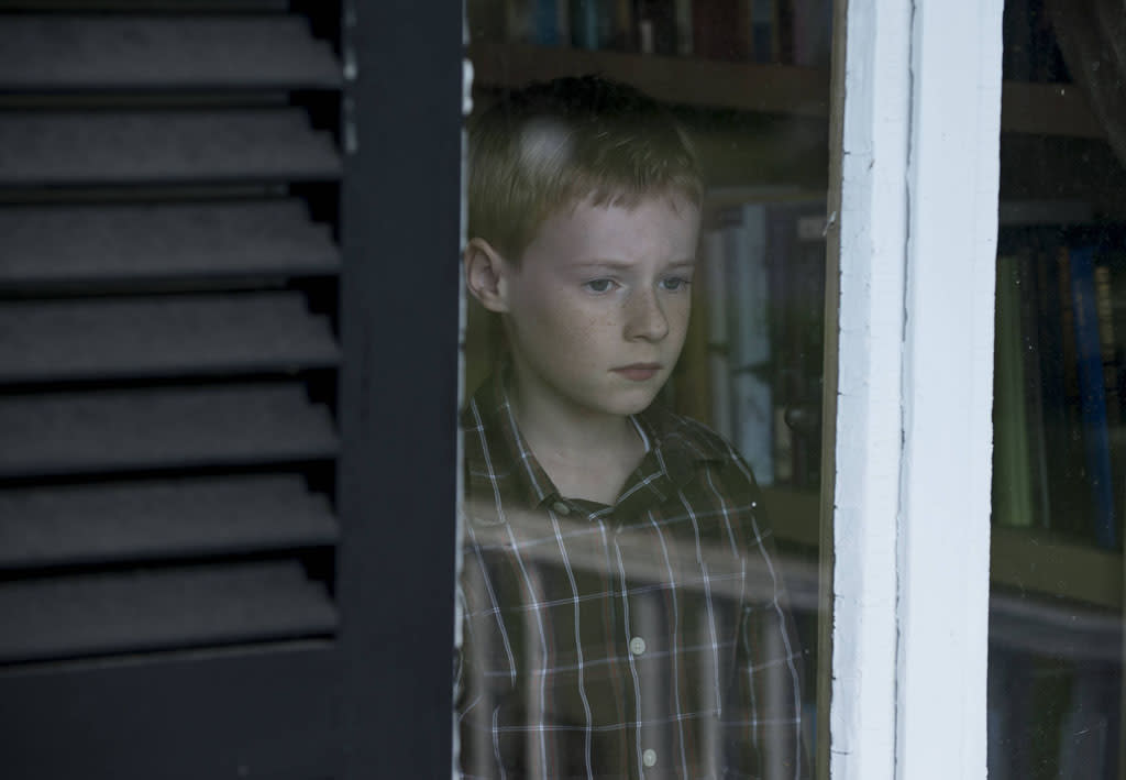 """Joey Matthews (Kyle Catlett) begins to miss his mother in the """"Mad Love"""" episode of """"The Following."""""""