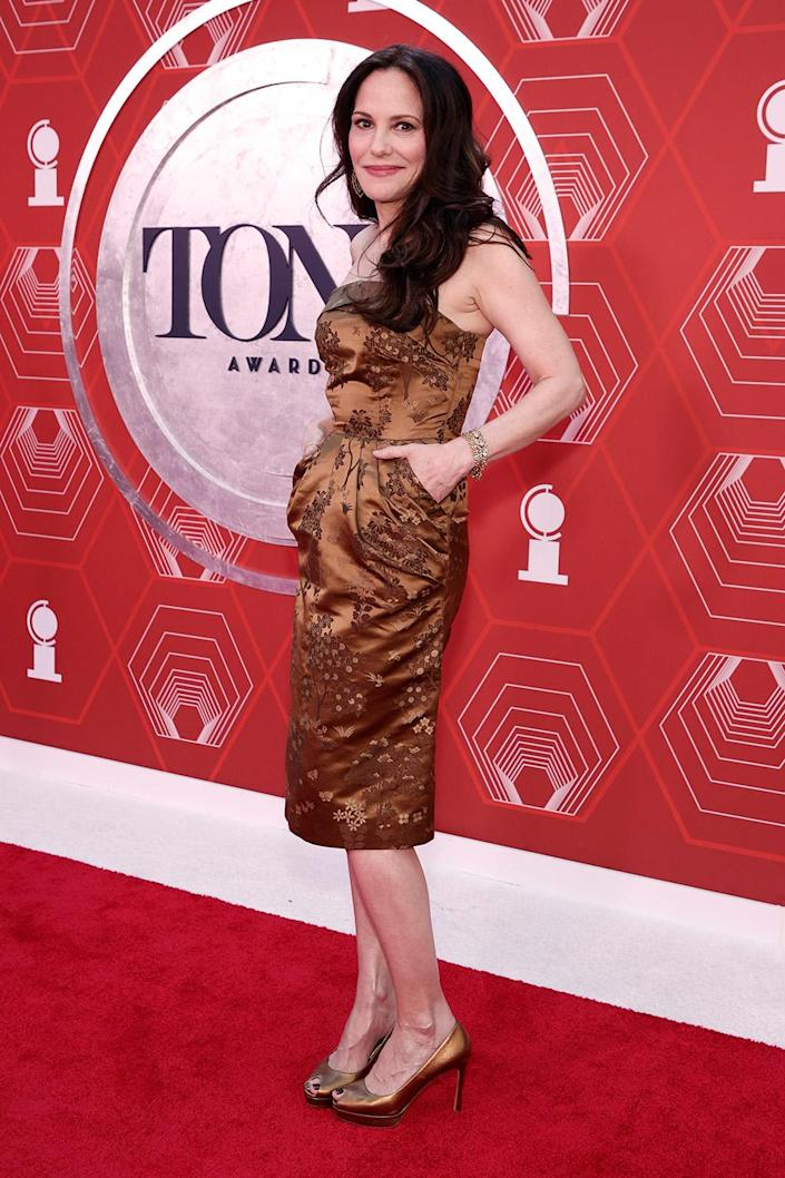 <p>Mary Louise Parker is up for her second tony tonight for lead actress in a play for <em>The Sound Inside</em>. </p>