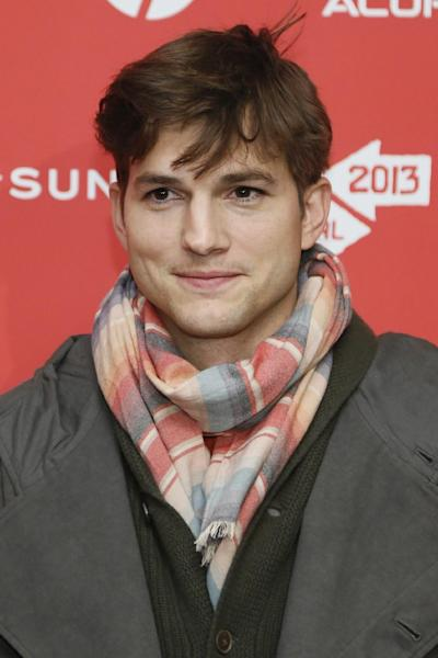 "File - In this Jan. 25, 2013 file photo, actor Ashton Kutcher, who portrays Apple's Steve Jobs in the film ""jOBS,"" poses at its premiere during the 2013 Sundance Film Festival, in Park City, Utah. Los Angeles prosecutors say a 12-year-old boy admitted Monday, March 11, 2013, to making prank 911 calls that drew a large police response to Kutcher's home last year. The boy, who has not been publicly identified, will be sentenced at a later date. (Photo by Danny Moloshok/Invision/AP, File)"