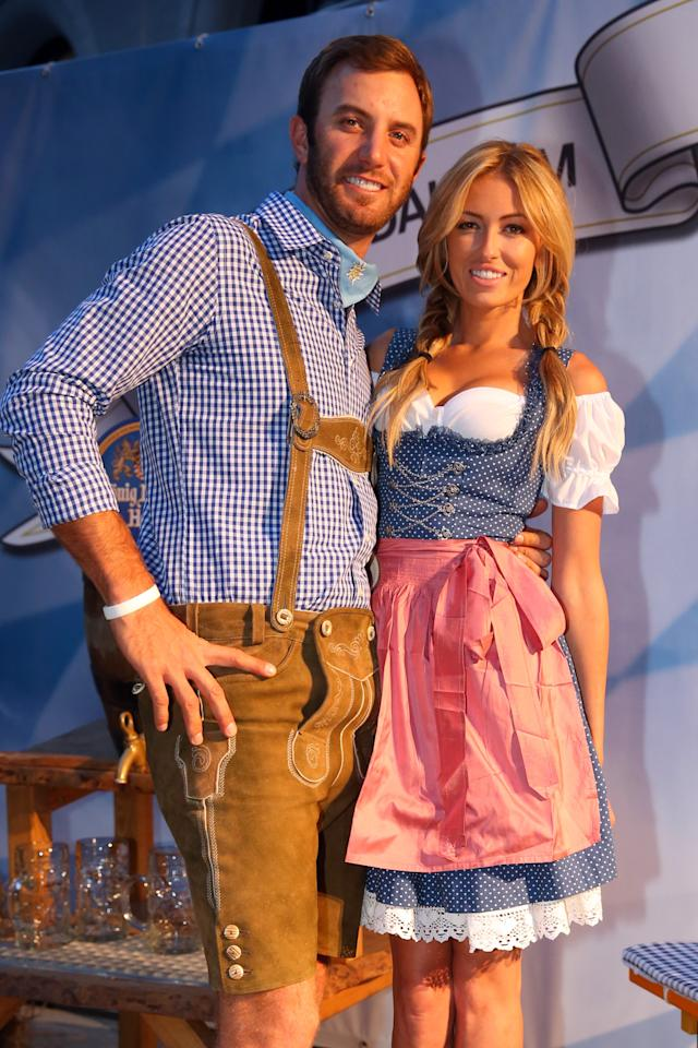 Dustin Johnson And Paulina Gretzky Party At The Bmw
