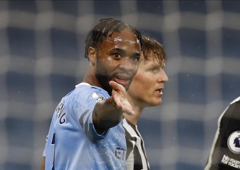 The burden of extinguishing racism in soccer has fallen to players like Raheem Sterling. That's unfair, and it's past time something changed. (Jason Cairnduff/ Pool via AP)