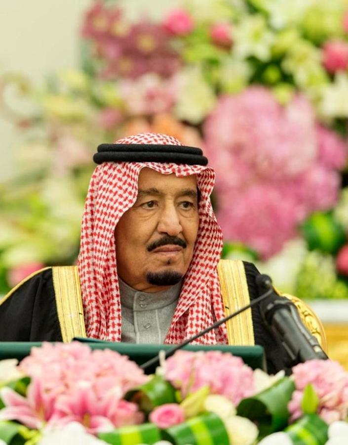 Saudi King Salman, who many in Iran would like to see overthrown (AFP Photo/)