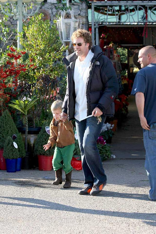 "Funnyman Will Ferrell showed off his fatherly side when he took his two sons Christmas tree shopping. MWD/<a href=""http://www.x17online.com"" target=""new"">X17 Online</a> - December 9, 2007"
