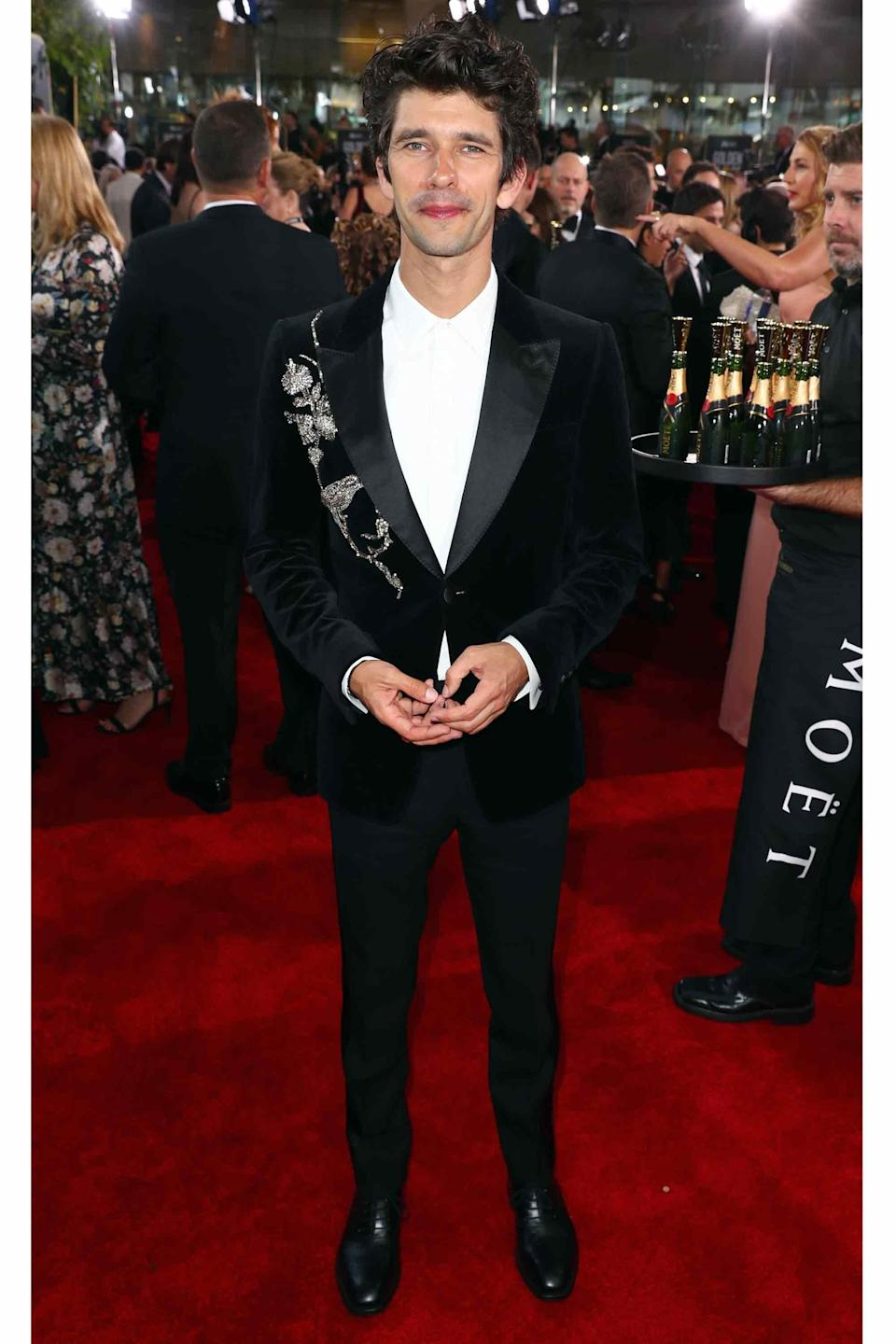 The red carpet was stocked with embroidered, embellished, and swervy jackets, and Whishaw's tailored McQueen was one of the best.