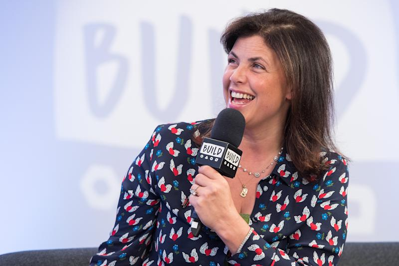 LONDON, ENGLAND - SEPTEMBER 28: Kirstie Allsopp during a BUILD event at AOL London on September 28, 2018 in London, England. (Photo by Jeff Spicer/Getty Images)