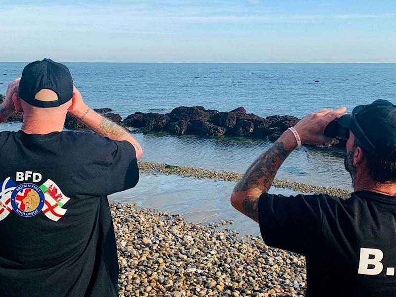 Far-right volunteers patrol the Kent coastline: Britain First / SWNS