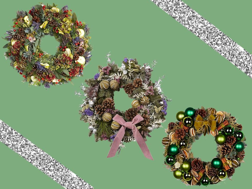 If you're worried your real wreath won't last the pace until Christmas, make sure you hang it outdoors and spritz it with water every few days (The Independent/iStock)