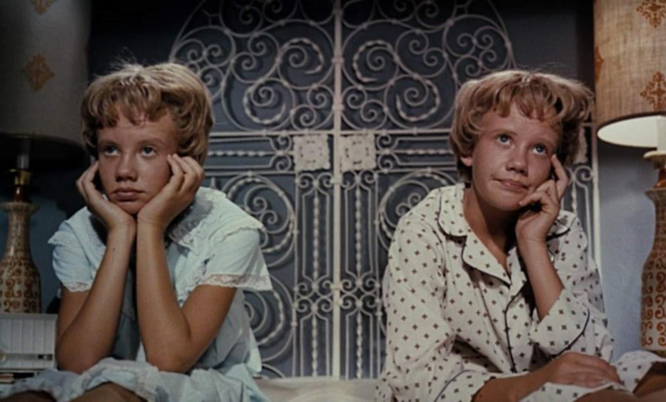 <p> Both the original (with Hayley Mills) and the remake (with Lindsay Lohan) pretty much follow the same basic plot: two girls staying at the same summer camp are a little weirded out because they look identical. That&#x2019;s because they&#x2019;re actually twins whose parents divorced when they were young and each took custody of one child. And so, naturally, the girls decide to trick their dishonest mama and papa (who actually did something pretty messed up) by switching places. </p> <p> No version of The Parent Trap could ever succeed without someone utterly charming at its centre. We all know how annoying child performances can get &#x2013; now imagine having to watch the same performance twice and all in one go. Thankfully, both Mills and Lohan are adorable in these films, to the point that you can might even forgive the weird ethics going on here (were these privileged millionaires really never going to tell their children that they had a twin?). </p>