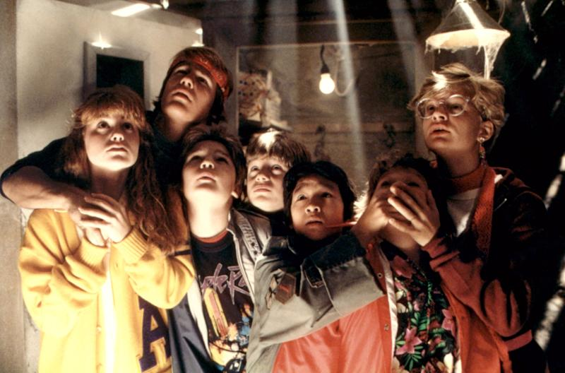 The cast of 'The Goonies,' which celebrates its 35th anniversary this weekend (Photo: Warner Bros./courtesy Everett Collection)