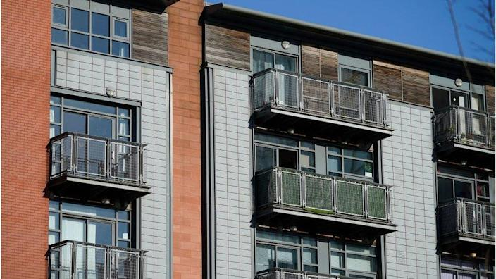 Cladding on a block of flats