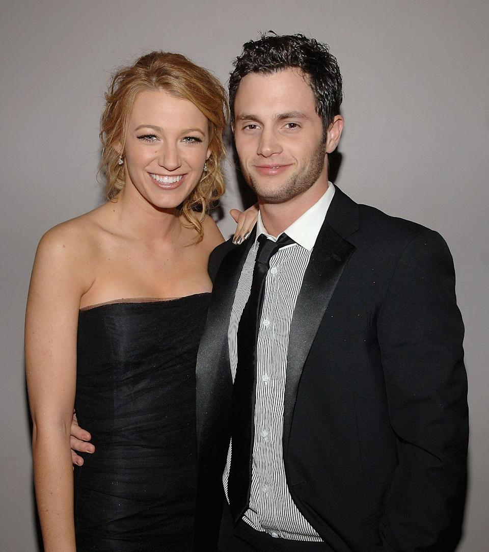 """<p>Whether you love or hate Serena and Dan's relationship on Gossip Girl, Blake Lively and Penn Badley's real-life relationship was kinda…cute? The actors met on the set of the famous series and <a href=""""https://www.elle.com/culture/celebrities/a12138963/blake-lively-secretly-dating-penn-badgley-gossip-girl/"""" rel=""""nofollow noopener"""" target=""""_blank"""" data-ylk=""""slk:dated for three years"""" class=""""link rapid-noclick-resp"""">dated for three years</a>. </p><p>In a <a href=""""https://www.vanityfair.com/hollywood/2017/08/gossip-girl-ten-year-anniversary"""" rel=""""nofollow noopener"""" target=""""_blank"""" data-ylk=""""slk:Vanity Fair oral history"""" class=""""link rapid-noclick-resp"""">Vanity Fair oral history</a> article for the show's 10-year anniversary, Blake talked about the romance: 'I remember there was one point where we were just afraid of how our personal lives overlapping our work life could be perceived by our bosses. [But then] we were like, """"Oh no, that's exactly what they want."""" They wanted us all to date. They wanted us all to wear the same clothes that we're wearing on the show. They wanted that, because then it fed their whole narrative. People could buy into this world.'</p>"""