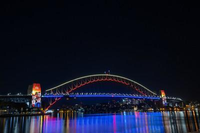 ICONIC MUSIC SENSATION ABBA LAUNCH THEIR NEW ALBUM VOYAGE WITH DAZZLING SYDNEY HARBOUR BRIDGE DISPLAY - Credit: Will Hartl