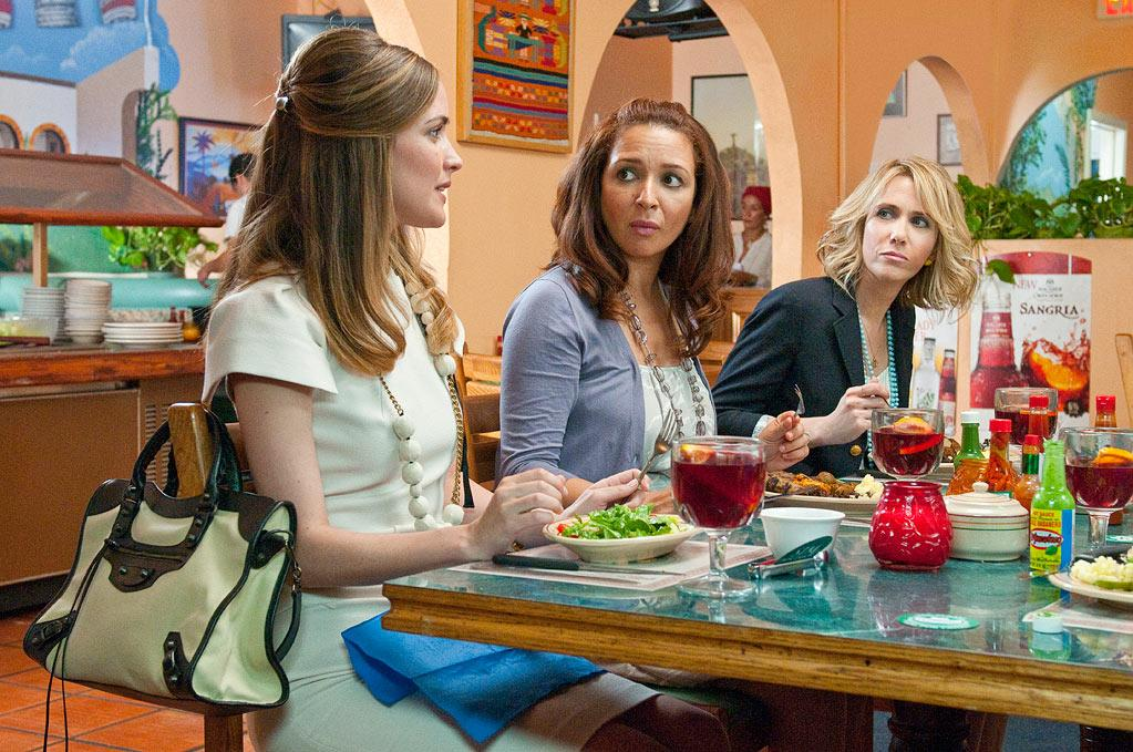 "<a href=""http://movies.yahoo.com/movie/bridesmaids-2011/"">BRIDESMAIDS</a> (2011) <br>Directed by: Paul Fieg <br>Starring: Kristen Wiig, Maya Rudolph and Melissa McCarthy<br><br>I'm going to say this movie was the funniest thing to happen in 2011. Kristen Wiig and Annie Mumolo's bitterly funny comedy about women, friendship, and what happens when one of them is tying the knot is something almost every woman has been through. Wiig leads the female-heavy cast through the somewhat strange and expensive ritual of being a bridesmaid. The film straddles the line between romantic and straight gross-out comedy, with jokes about masturbation, farts, and anal bleaching. It reaches its comedic height in an epic bridal boutique scene in which the entire bridal party comes down with debilitating food poisoning. --Jennifer Fox<br><br>"
