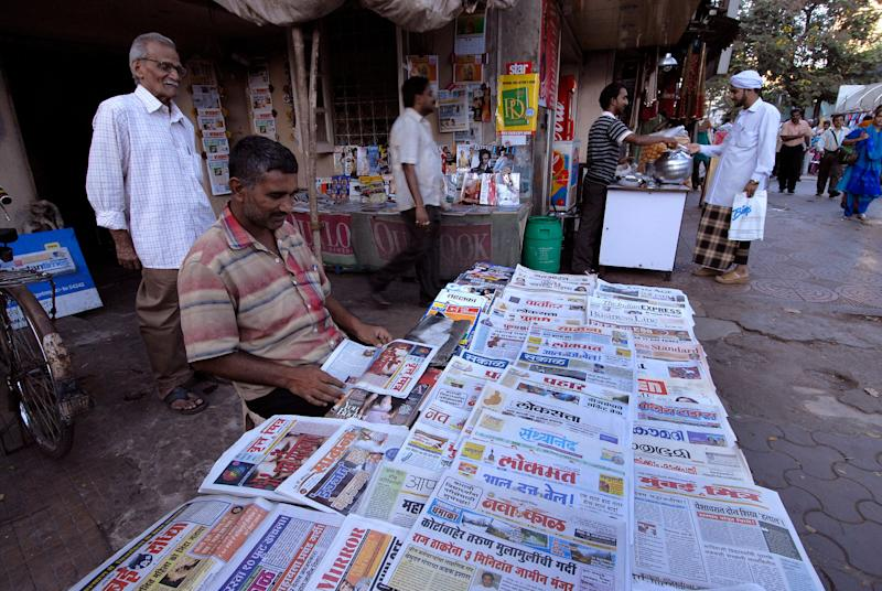 A file photo of a Newspaper Stall selling Marathi Newspapers in Mumbai (Photo: Mint via Getty Images)