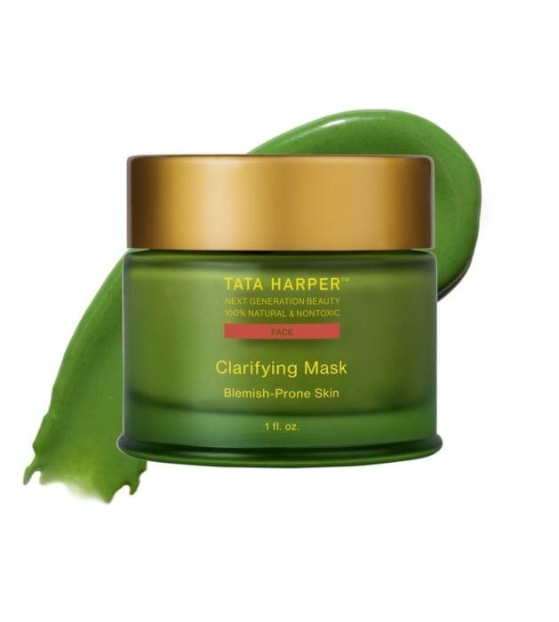 """<p>Make sure your scary makeup doesn't clog your pores by smearing on the <a href=""""https://www.popsugar.com/buy/Tata-Harper-Clarifying-Mask-393335?p_name=Tata%20Harper%20Clarifying%20Mask&retailer=tataharperskincare.com&pid=393335&price=68&evar1=bella%3Auk&evar9=46822229&evar98=https%3A%2F%2Fwww.popsugar.com%2Fbeauty%2Fphoto-gallery%2F46822229%2Fimage%2F46822242%2FTata-Harper-Clarifying-Mask&list1=beauty%20products%2Cface%20masks%2Challoween%2Cface%20mask%2Cskin%20care&prop13=api&pdata=1"""" rel=""""nofollow"""" data-shoppable-link=""""1"""" target=""""_blank"""" class=""""ga-track"""" data-ga-category=""""Related"""" data-ga-label=""""https://www.tataharperskincare.com/clarifying-mask?gclid=EAIaIQobChMI1Y6Anf783gIVhY3ICh1wHg4SEAQYASABEgI-LPD_BwE"""" data-ga-action=""""In-Line Links"""">Tata Harper Clarifying Mask</a> ($68). It uses micronized quartz and fruit-derived AHAs to slough away any excess dirt and debris. It also contains honey to calm and hydrate your complexion.</p>"""