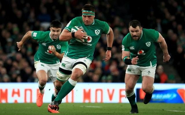 CJ Stander, centre, is among eight foreign-born players in Ireland's 23-man squad