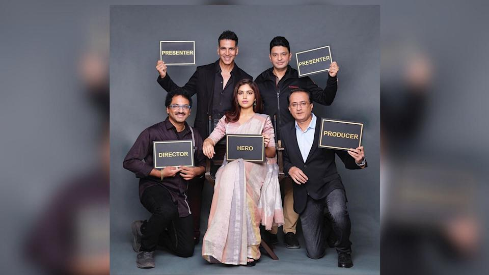 Akshay Kumar announces his next film with Bhumi Pednekar.