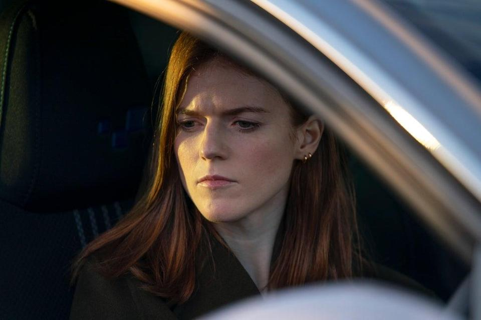 Kirsten Longacre driving somewhere to get some answers (BBC/World Productions)