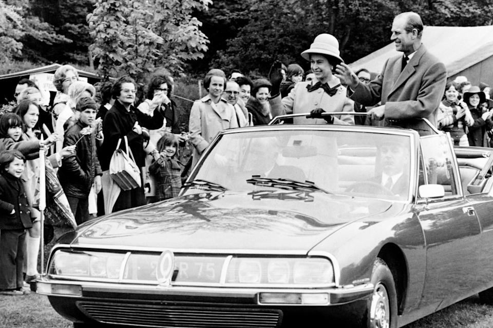 In 1972 at the Athletic Club in Meudon during their four-day official visit to FranceAFP/Getty