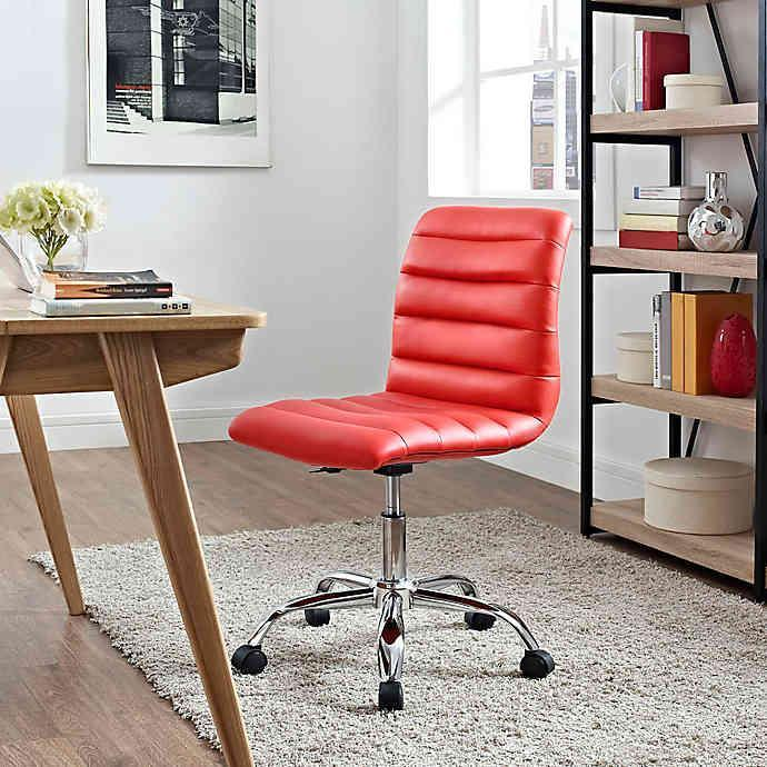 "<h2>Modway Ripple Mid-Back Office Chair</h2> <br><strong>Best For: Small Spaces</strong><br>This sleek armless style is the streamlined solution for small-space butt support that still looks modern chic. <br><br><strong>The Hype: </strong>4.9 out of 5 stars and 28 reviews on <a href=""https://www.bedbathandbeyond.com/store/product/modway-ripple-mid-back-office-chair/3304313"" rel=""nofollow noopener"" target=""_blank"" data-ylk=""slk:Bed Bath & Beyond"" class=""link rapid-noclick-resp"">Bed Bath & Beyond</a><br><br><strong>Comfy Butts Say:</strong> ""After reading so many positive reviews on the chair, I decided to order it for myself and I'm happy I did. The chair is well constructed, very comfortable, and terrific quality. The chair is not bulky and works really well in the area where my desk is in my spare room. It came well packaged and was easy to assemble.""<br><br><strong>Modway</strong> Ripple Mid-Back Office Chair, $, available at <a href=""https://go.skimresources.com/?id=30283X879131&url=https%3A%2F%2Fwww.bedbathandbeyond.com%2Fstore%2Fproduct%2Fmodway-ripple-mid-back-office-chair%2F3304313"" rel=""nofollow noopener"" target=""_blank"" data-ylk=""slk:Bed Bath and Beyond"" class=""link rapid-noclick-resp"">Bed Bath and Beyond</a><br><br><br><br><br><br>"