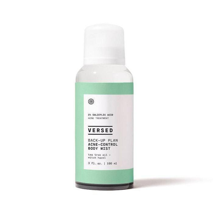 <p>The <span>Versed Back-Up Plan Acne-Control Body Mist</span> ($15) banishes acne on your body with an easy-to-use 360-degree spray nozzle. And no, it doesn't leave you with that gross, sticky feeling after. </p>