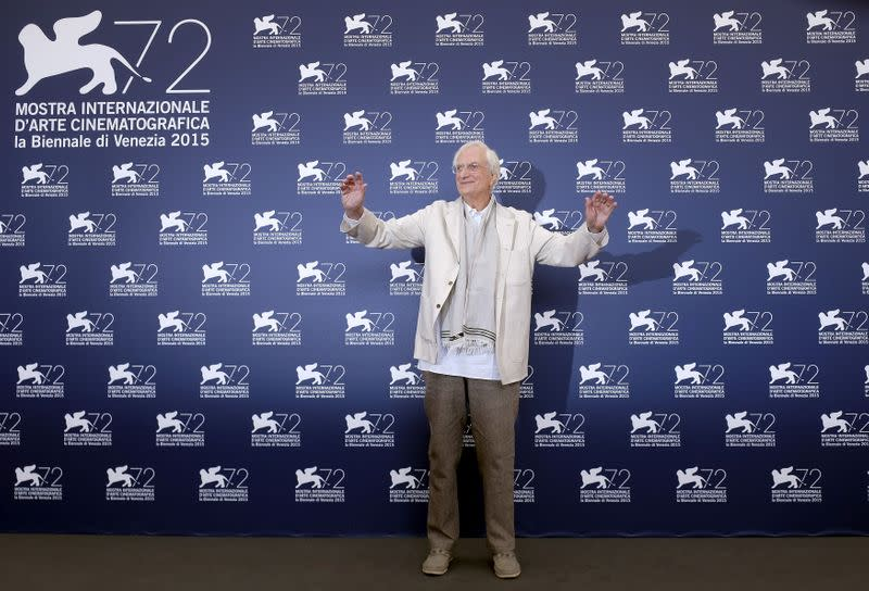 FILE PHOTO: Director Tavernier attends a photocall for Golden Lion For Lifetime Achievement 2015 during the 72nd Venice Film Festiva