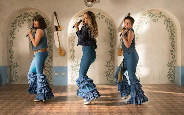 "<p>Come for the wall-to-wall ABBA that blankets this sequel-prequel hybrid; stay to solve the mystery of whether <a href=""https://www.yahoo.com/entertainment/mamma-mia-again-trailer-wait-170000817.html"" data-ylk=""slk:Meryl Streep's character is alive or dead;outcm:mb_qualified_link;_E:mb_qualified_link"" class=""link rapid-noclick-resp"">Meryl Streep's character is alive or dead</a>. And don't worry: If Streep is pushing up the daisies and you're in need a shoulder to cry on, Cher's got you, babe. 