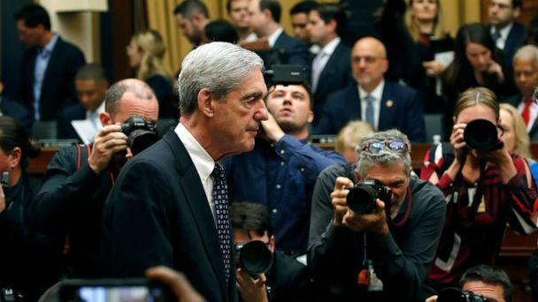 PHOTO: Former special counsel Robert Mueller arrives to testify before the House Judiciary Committee hearing, about his report on Russian interference in the 2016 presidential election, on Capitol Hill, July 24, 2019, in Washington. (Alex Brandon/AP, FILE)